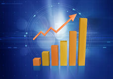 biznesowy wykres Zdjęcie Stock