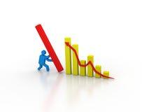 Biznesowy wykres 3d ilustracja wektor