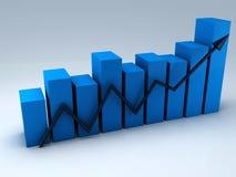 Biznesowy wykres, 3d odpłaca się ilustracji