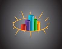 Biznesowy wykres na blackboard ilustracja wektor