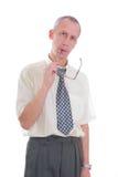 biznesowy wyrażenie odizolowywający mężczyzna Fotografia Stock
