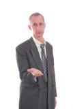 biznesowy wyrażenie odizolowywający mężczyzna Fotografia Royalty Free