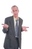 biznesowy wyrażenie odizolowywający mężczyzna Zdjęcie Royalty Free