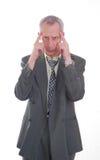 biznesowy wyrażenie odizolowywający mężczyzna Obraz Royalty Free
