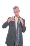 biznesowy wyrażenie odizolowywający mężczyzna Obrazy Royalty Free