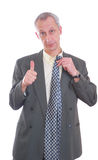 biznesowy wyrażenie odizolowywający mężczyzna Zdjęcia Stock