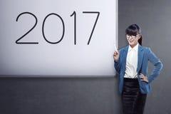 Biznesowy wzrok w 2017 Zdjęcia Royalty Free