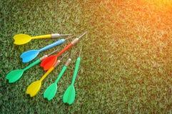 Biznesowy wzroku pojęcie z kolorową strzałki strzała Fotografia Stock