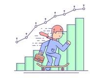 Biznesowy wzrostowy płaski pojęcie Zdjęcia Stock