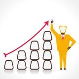 Biznesowy wzrostowy wykresu pojęcie Zdjęcia Royalty Free