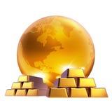 biznesowy złocisty marketingowy świat Obraz Stock