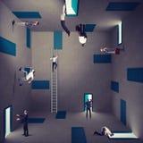 Biznesowy zamieszanie i prawa strategia Obrazy Stock