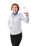 biznesowych bizneswomanów karciany mienie Zdjęcia Royalty Free