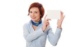 biznesowych bizneswomanów karciany mienie Obraz Stock