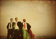 Biznesowych bohaterów władzy Korporacyjny pojęcie obrazy royalty free