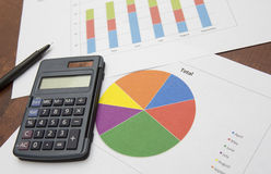 Biznesowych dane analiza Zdjęcia Stock