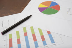 Biznesowych dane analiza Zdjęcie Stock