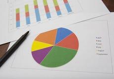 Biznesowych dane analiza Zdjęcie Royalty Free