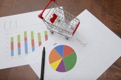 Biznesowych dane analiza Zdjęcia Royalty Free