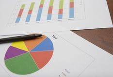 Biznesowych dane analiza Obrazy Royalty Free