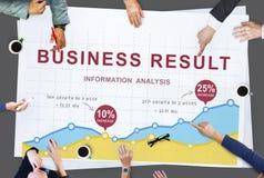 Biznesowych dane przyrosta raportu analizy występu pojęcie obraz royalty free