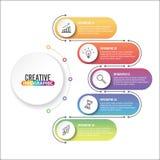 Biznesowych dane unaocznienie Proces mapa Abstrakcjonistyczni elementy wykres, diagram z 4 krokami, opcje, części lub procesy, we Fotografia Stock