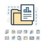 Biznesowych dokumentów ikony Zdjęcie Stock