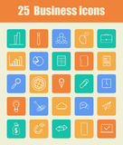 25 Biznesowych ikon Obrazy Royalty Free