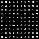 100 Biznesowych ikon ustawiających Fotografia Royalty Free