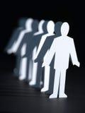 biznesowych lal papierowa perspektywa zdjęcia royalty free