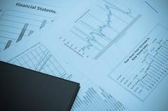 Biznesowych map i wykresów cyanotype styl Zdjęcie Royalty Free