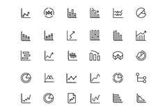 Biznesowych map wektoru linii ikony 3 Obraz Stock