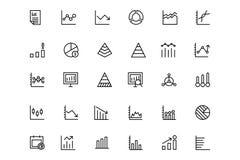 Biznesowych map wektoru linii ikony 2 Obrazy Stock