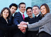 biznesowych osob pomyślni drużynowi potomstwa Obraz Stock