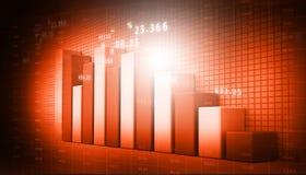 biznesowych pojęcia wykresów wzrostowa cena Obrazy Stock