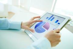 biznesowych pojęcia wykresów wzrostowa cena Fotografia Stock