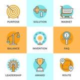 Biznesowych symboli/lów kreskowe ikony ustawiać royalty ilustracja