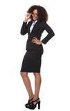 biznesowych szkieł szczęśliwa kobieta Zdjęcie Stock