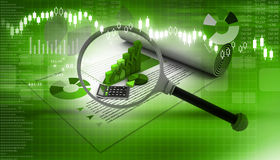 biznesowych wykresów targowy monitorowanie raportu zapas Zdjęcie Royalty Free