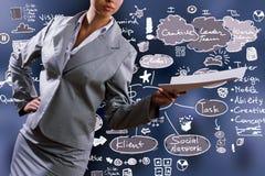 biznesowych wykresów targowy monitorowanie raportu zapas Obrazy Stock