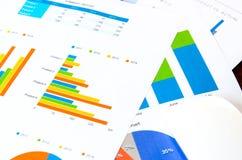 biznesowych wykresów targowy monitorowanie raportu zapas Zdjęcie Stock