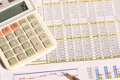 biznesowych wykresów targowy monitorowanie raportu zapas Fotografia Royalty Free