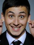 biznesowych wyrażeń śmieszni mężczyzna potomstwa Zdjęcie Stock