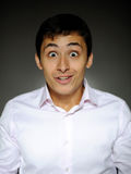 biznesowych wyrażeń przystojny mężczyzna szokujący Fotografia Stock