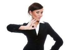 biznesswoman ο.κ. που εμφανίζει χαμό&gamma Στοκ εικόνες με δικαίωμα ελεύθερης χρήσης