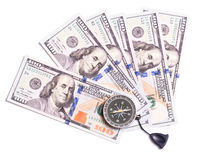 biznesu cyrklowi pojęcia kierunku dolary fotografia royalty free