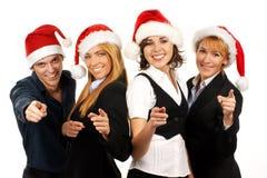 biznesu cztery kapeluszy osob Santa potomstwa Obraz Stock