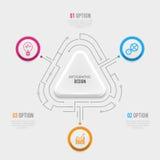 Biznesu 3D infographic szablon Obraz Stock