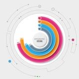 Biznesu 3D infographic szablon Fotografia Stock