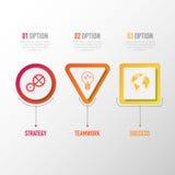 Biznesu 3D infographic szablon Obrazy Royalty Free